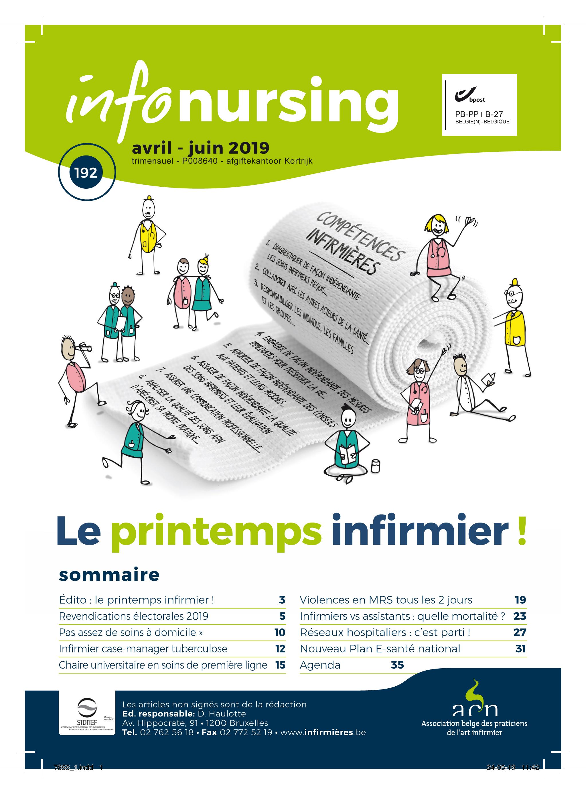 Edito Info-Nursing 192 : Le printemps infirmier !