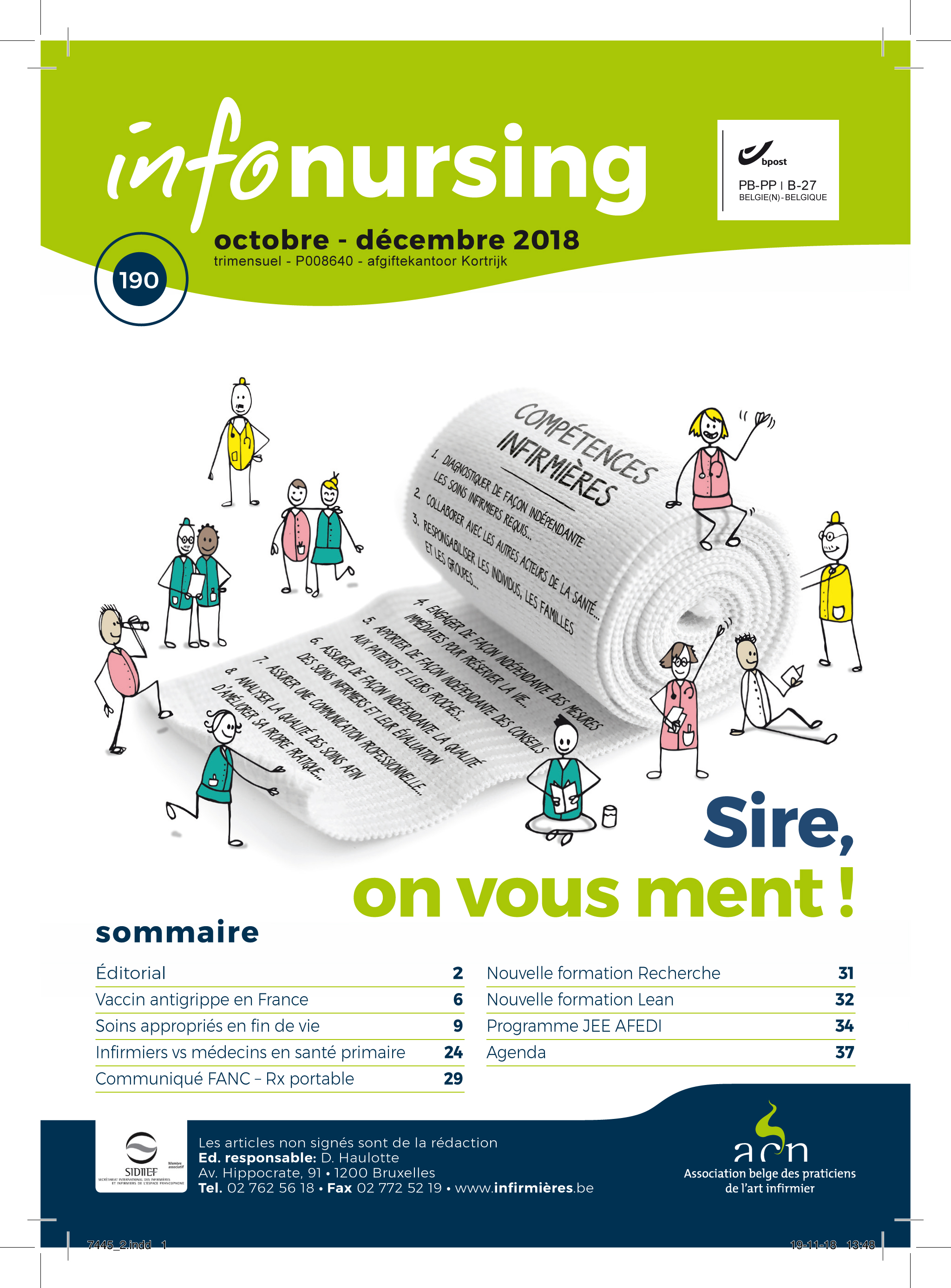 Edito Info-Nursing 190 : Sire on vous ment !