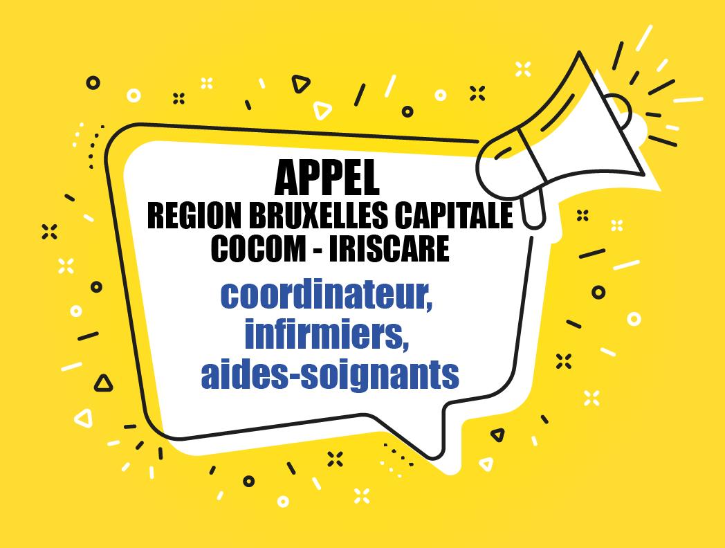 COVID 19 - APPEL Bruxelles-Capitale pour MR/MRS : coordinateur, infirmiers, aides-soignants
